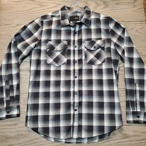 Hurley Plaid Flannel Nike Dri Fit Material Size M